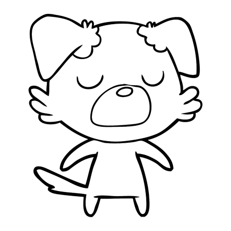 Snob cuddly dog cartoon Ilustração