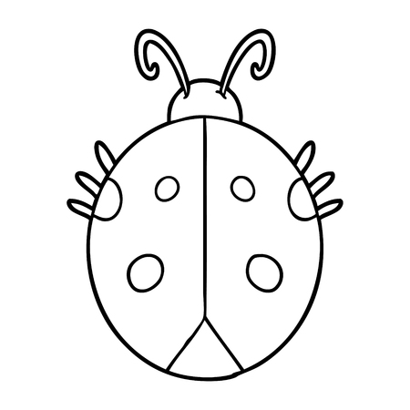 Hand drawn cartoon ladybug Vectores