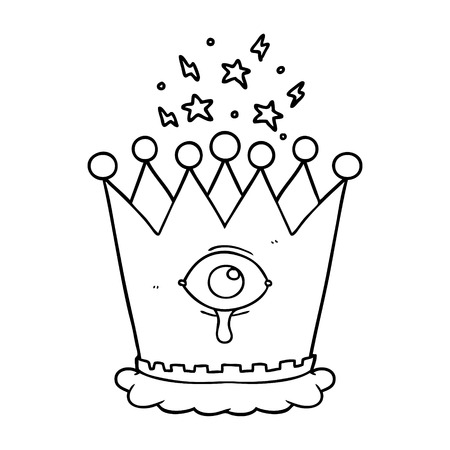 Hand drawn cartoon magic crown