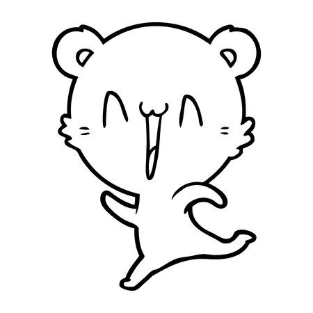 Hand drawn happy bear running cartoon 스톡 콘텐츠 - 95763304