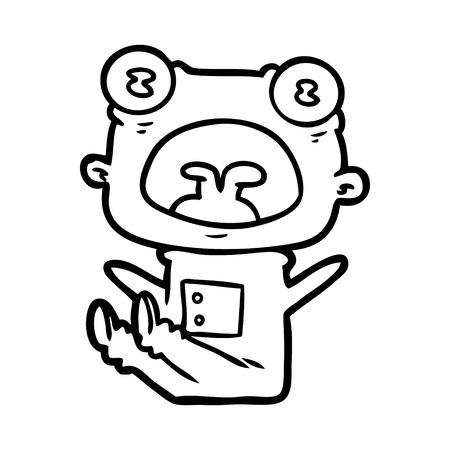 Strano gridare straniero del fumetto disegnato a mano