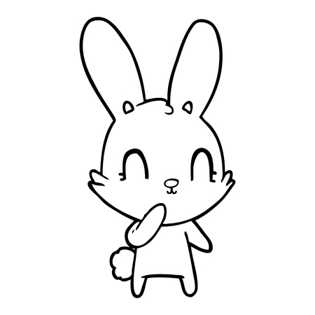Cute and cuddly cartoon rabbit