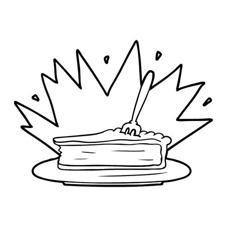 amazing dessert cartoon Vector illustration.