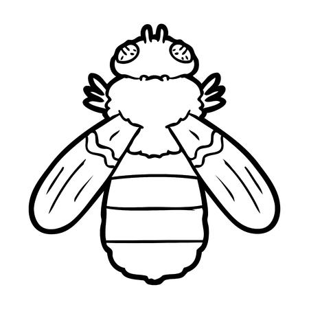 Hand drawn cartoon bee