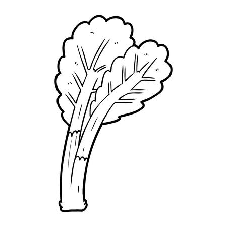 Hand drawn cartoon rhubarb