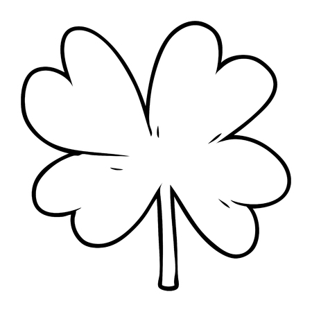 Hand drawn cartoon four leaf clover 版權商用圖片 - 95765886