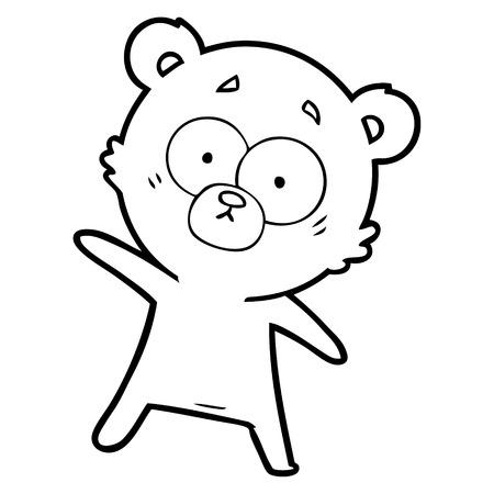 surprised bear cartoon Vector illustration. Stock Illustratie