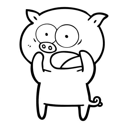 手描き漫画豚叫び