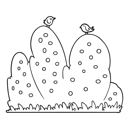 cartoon hedge Vector illustration.
