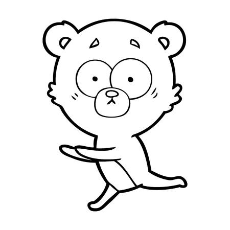 心配クマ漫画ベクトルイラスト
