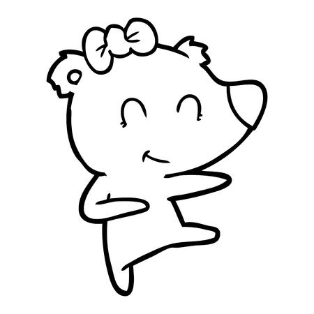 Female bear cartoon vector illustration Archivio Fotografico - 95653739