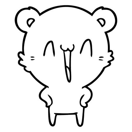 happy polar bear cartoon Vector illustration. 스톡 콘텐츠 - 95692599