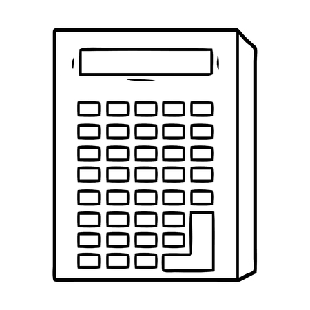 cartoon calculator Vector illustration.
