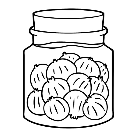A cartoon pickled onions isolated on white background.