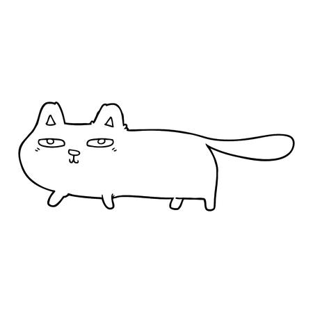 Cartoon sly cat vector illustration