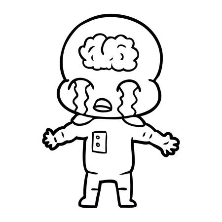 漫画大脳エイリアン泣くベクトルイラスト