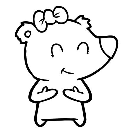 A female polar bear cartoon isolated on white background. Archivio Fotografico - 95669161