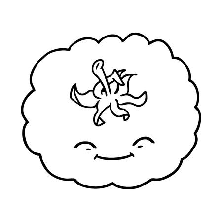 Cartone animato pomodoro illustrazione vettoriale. Archivio Fotografico - 95692877
