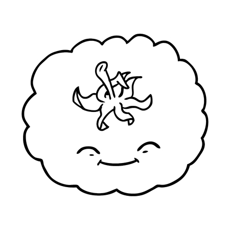 cartoon tomato Vector illustration. Ilustracja