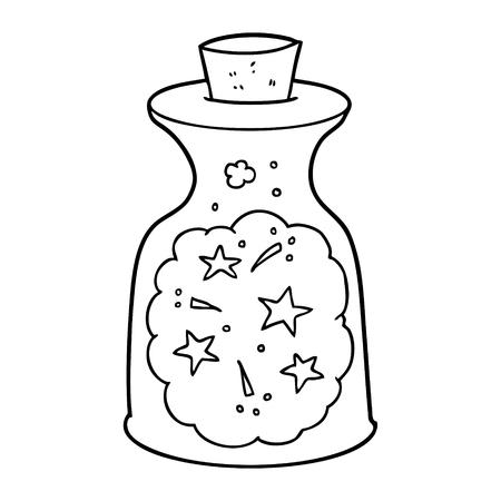cartoon magic potion Vector illustration.