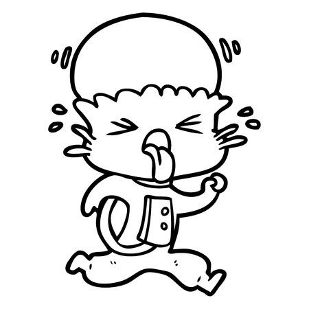 奇妙な漫画エイリアンベクトルイラスト。  イラスト・ベクター素材