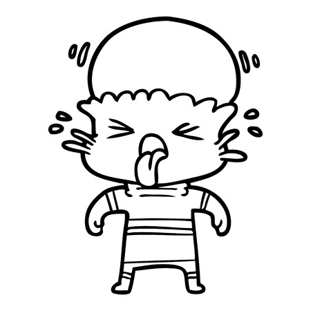 奇妙な漫画エイリアンベクトルイラスト  イラスト・ベクター素材