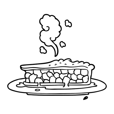 cartoon blueberry pie Vector illustration.