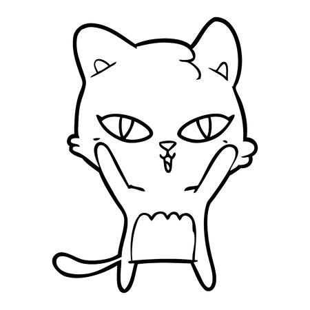 cartoon cat Vector illustration.