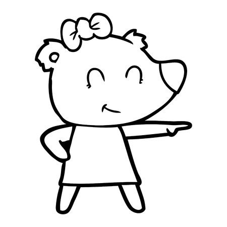 Female bear cartoon illustration on white background. Archivio Fotografico - 95663688