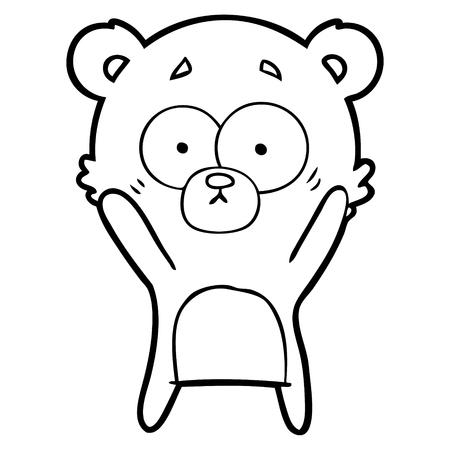 心配クマ漫画ベクトルイラスト。
