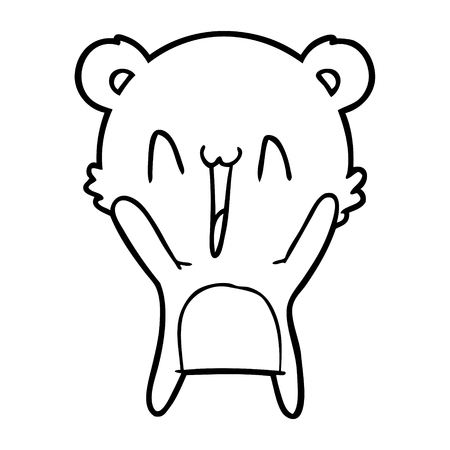 happy bear cartoon Vector illustration. 스톡 콘텐츠 - 95732893