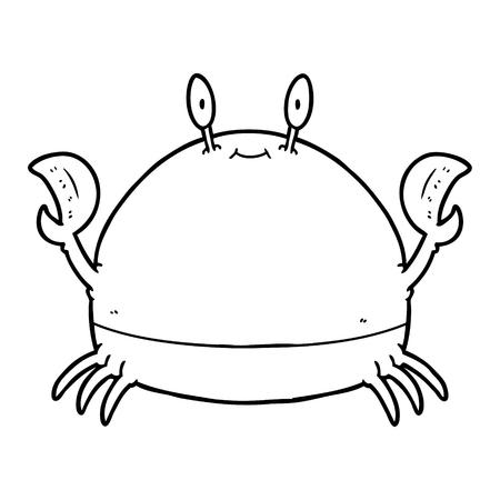 Cartoon crab illustration on white background. Stock Illustratie