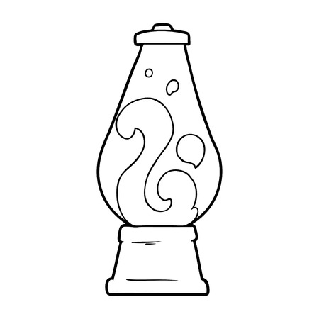 cartoon retro lava lamp Vector illustration.