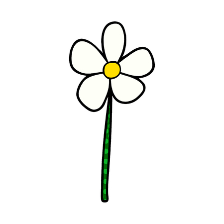 cartoon flower Vector illustration.
