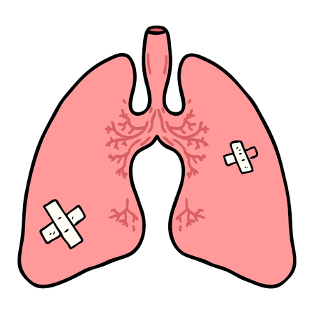 cartoon lungs Vector illustration. Illusztráció
