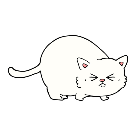 cartoon angry cat Vector illustration. 向量圖像