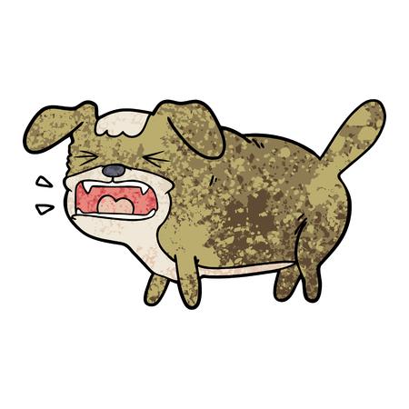 cartoon dog barking Vector illustration.