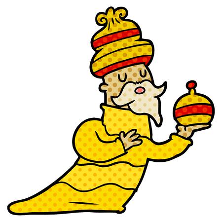 one of three wise men cartoon Vector illustration. Stock Illustratie