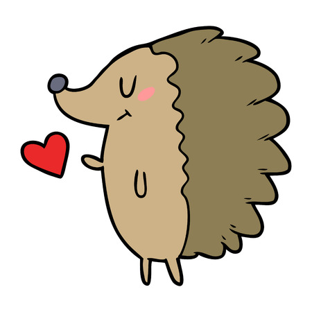cute cartoon hedgehog Vector illustration. Ilustração