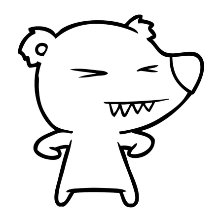 angry polar bear cartoon Vector illustration. Illustration