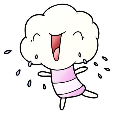cute cartoon cloud head creature Vector illustration. Reklamní fotografie - 95740626