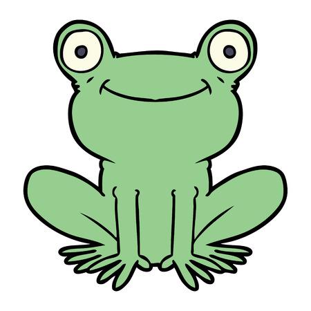 cartoon frog Vector illustration.