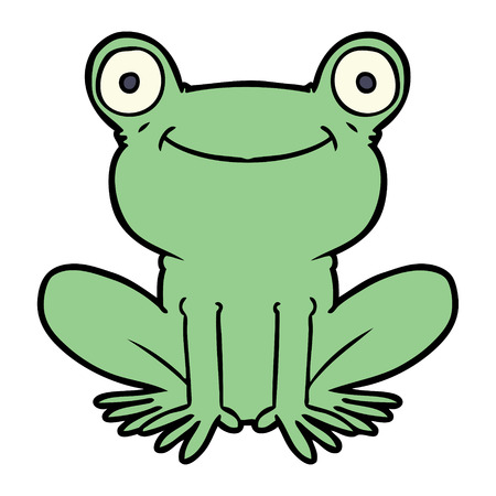 cartoon frog Vector illustration.