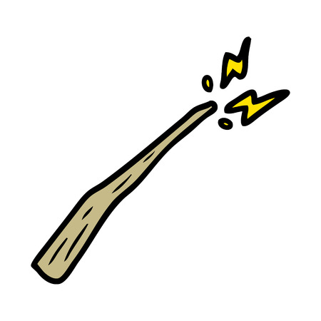 cartoon magic wand Vector illustration. Ilustracja