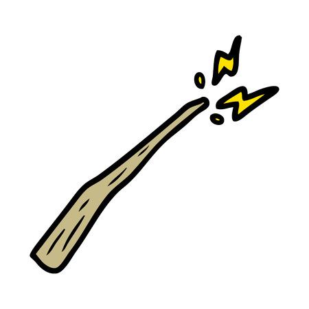 Cartoon Zauberstab Vektor-Illustration Standard-Bild - 95740721