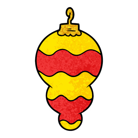 cartoon christmas decoration Vector illustration.