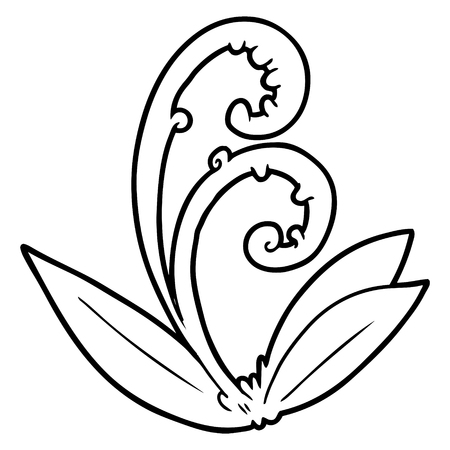cartoon leaf Vector illustration.