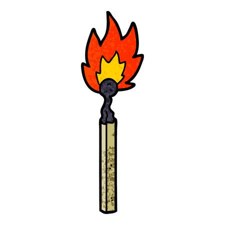 cartoon burning match Vector illustration.
