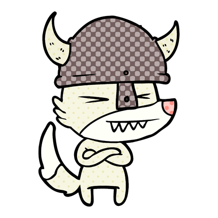 angry wolf cartoon Vector illustration. Stock Vector - 95741051