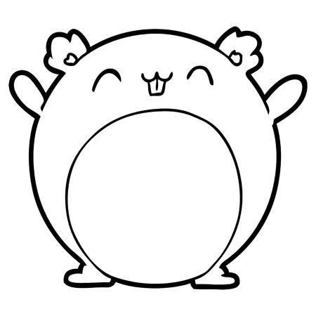 hamster de bande dessinée Illustration vectorielle. Vecteurs